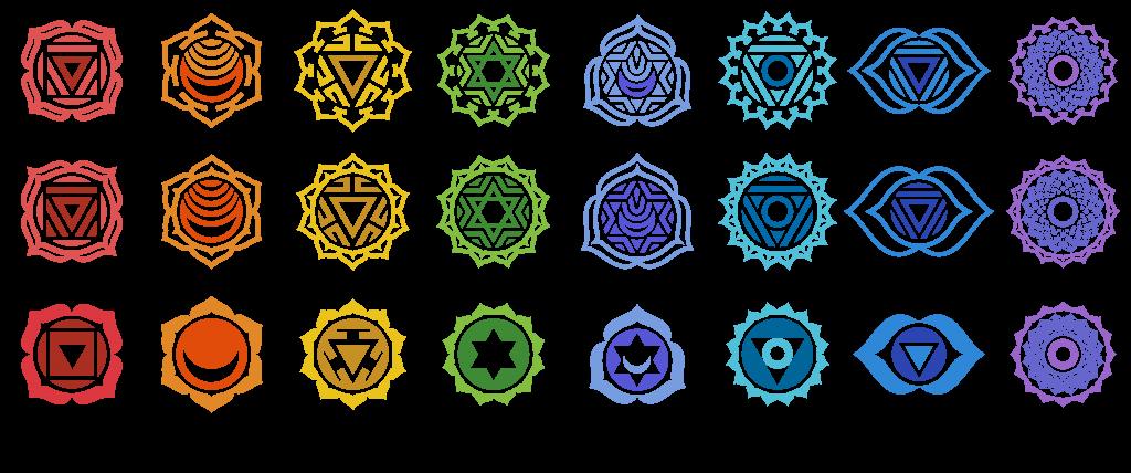 symbols for the seven major chakras